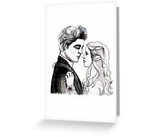 Twilight Bella and Edward Prom Greeting Card