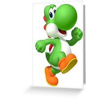 Yoshi - Super Mario Bros Greeting Card