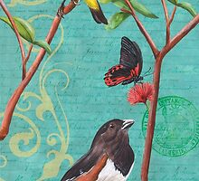 Verdigris Songbirds 2 by Debbie DeWitt