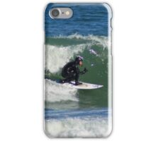 Winter Surfing at the Outer Banks in North Carolina. iPhone Case/Skin