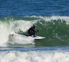 Winter Surfing at the Outer Banks in North Carolina. by paulboggs