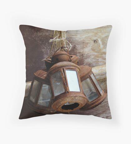 Rusty Lamps Throw Pillow