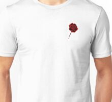 Black & Red Rose Unisex T-Shirt