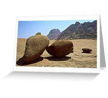 Granite boulders at Spitkoppe Namibia Greeting Card