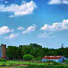 Old Country Barn and Silo by Glenna Walker