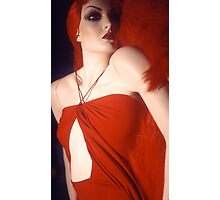 Red Dressed Mannequin Photographic Print