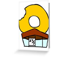 The Donut Store. Greeting Card