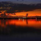 Sunset at Bay by Kaushik Rabha