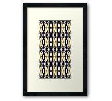 weeping angel pattern Framed Print