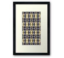 weeping angel pattern Framed Print