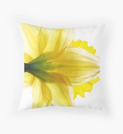 Sun Soaked Daffodil Throw Pillow