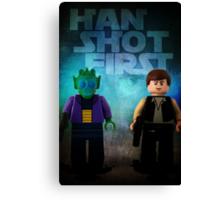Han Shot First - Star wars lego digital art Canvas Print