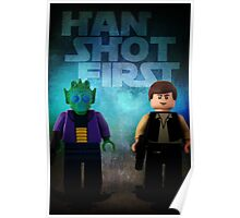 Han Shot First - Star wars lego digital art Poster