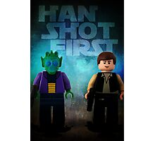 Han Shot First - Star wars lego digital art Photographic Print