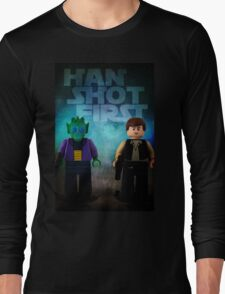 Han Shot First - Star wars lego digital art Long Sleeve T-Shirt