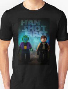 Han Shot First - Star wars lego digital art Unisex T-Shirt