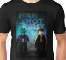 Han Shot First - Star wars lego digital art Unisex T-Shirt