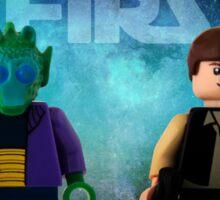 Han Shot First - Star wars lego digital art Sticker
