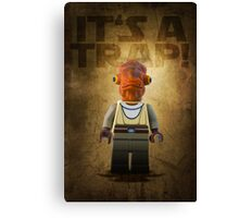 Admiral Akbar -  It's a Trap! - Star wars lego digital art.  Canvas Print