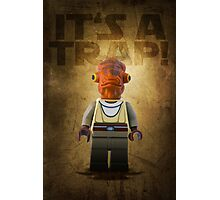 Admiral Akbar -  It's a Trap! - Star wars lego digital art.  Photographic Print