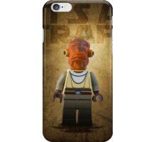Admiral Akbar -  It's a Trap! - Star wars lego digital art.  iPhone Case/Skin