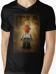 Admiral Akbar -  It's a Trap! - Star wars lego digital art.  Mens V-Neck T-Shirt
