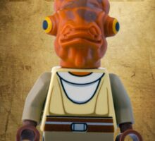 Admiral Akbar -  It's a Trap! - Star wars lego digital art.  Sticker