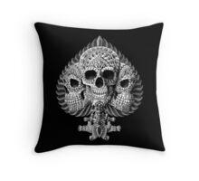 Skull Spade Throw Pillow