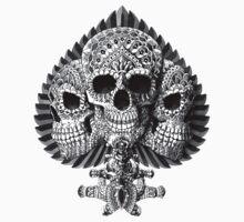 Skull Spade One Piece - Short Sleeve