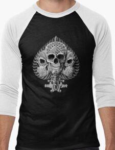 Skull Spade Men's Baseball ¾ T-Shirt