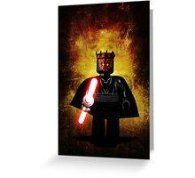 Darth Maul - Star wars lego digital art.  Greeting Card