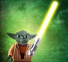 Yoda - Star wars lego digital art.  by CBDigitalGoods