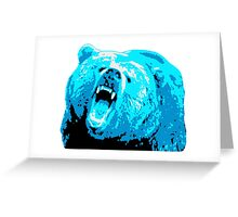 Blue Grizzly Bear Greeting Card