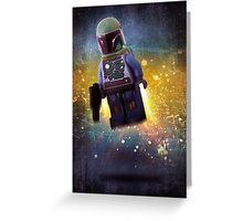 Boba fett - Star wars lego digital art.  Greeting Card