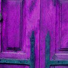 Purple Door with Hand Knocker by Tamarra