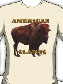 American Classic Buffalo by ©Fractal Tees T-Shirt