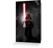 Darth Vader - Star wars lego digital art.  Greeting Card