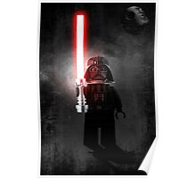 Darth Vader - Star wars lego digital art.  Poster