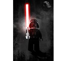 Darth Vader - Star wars lego digital art.  Photographic Print