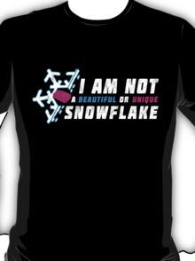 A beautiful and unique snowflake. T-Shirt