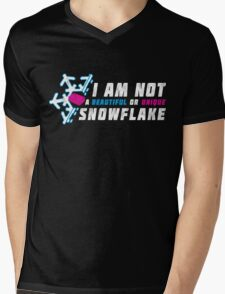 A beautiful and unique snowflake. Mens V-Neck T-Shirt