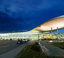 Blue hour Airport by Delfino