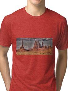 Totem Pole in the Clouds Tri-blend T-Shirt