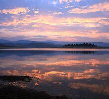 Lake Jindabyne Sunset, Australia by Michael Boniwell