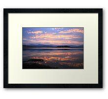Lake Jindabyne Sunset, Australia Framed Print