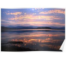 Lake Jindabyne Sunset, Australia Poster