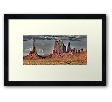 Totem Pole in the Clouds Framed Print