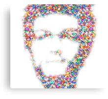 Confetti Head Canvas Print