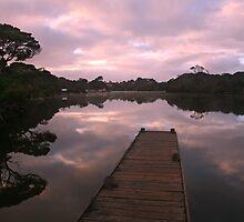 Glenelg River Awakens, Australia by Michael Boniwell