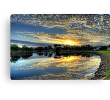 """ Sunrise on the Brodribb River Marlo Vic "" Canvas Print"